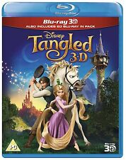 Tangled 3D Blu-Ray 3D + 2D Disney BRAND NEW FREE SHIPPING