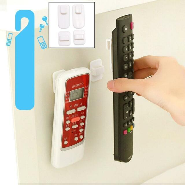 2Pcs ABS TV Remote Control Organizer Storage Stand Holder Hook Control Seat TF