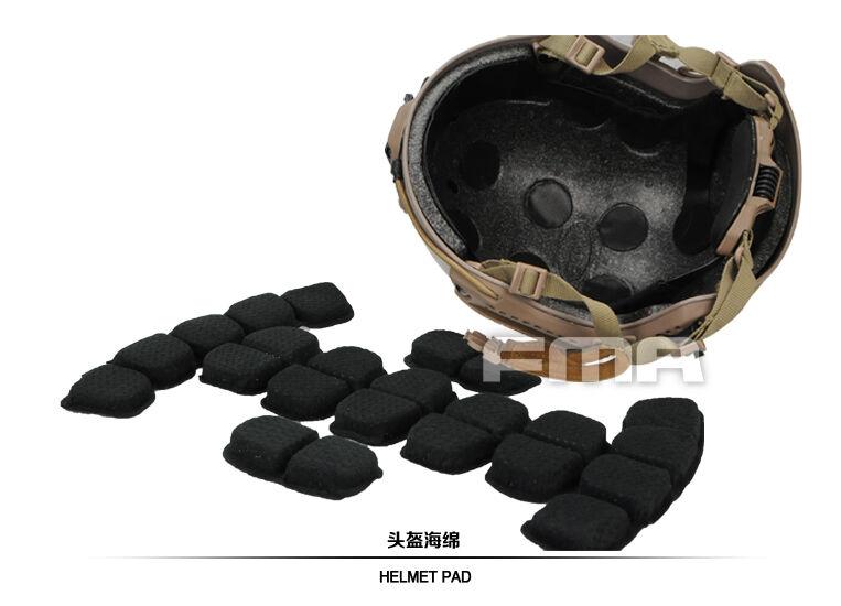 FMA Memory Foam Predective Pad & Suspension Liner For Ballistic Helmet M L L XL