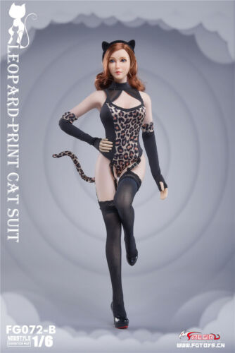 """Fire Girl Toys 1//6 FG072 Leopard Conjoined Suit Clothes F 12/"""" Female Phicen Body"""