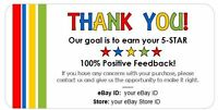 Thank You Ebay Seller Labels -- 4x2 --- Labels Stickers Seals - Personalized