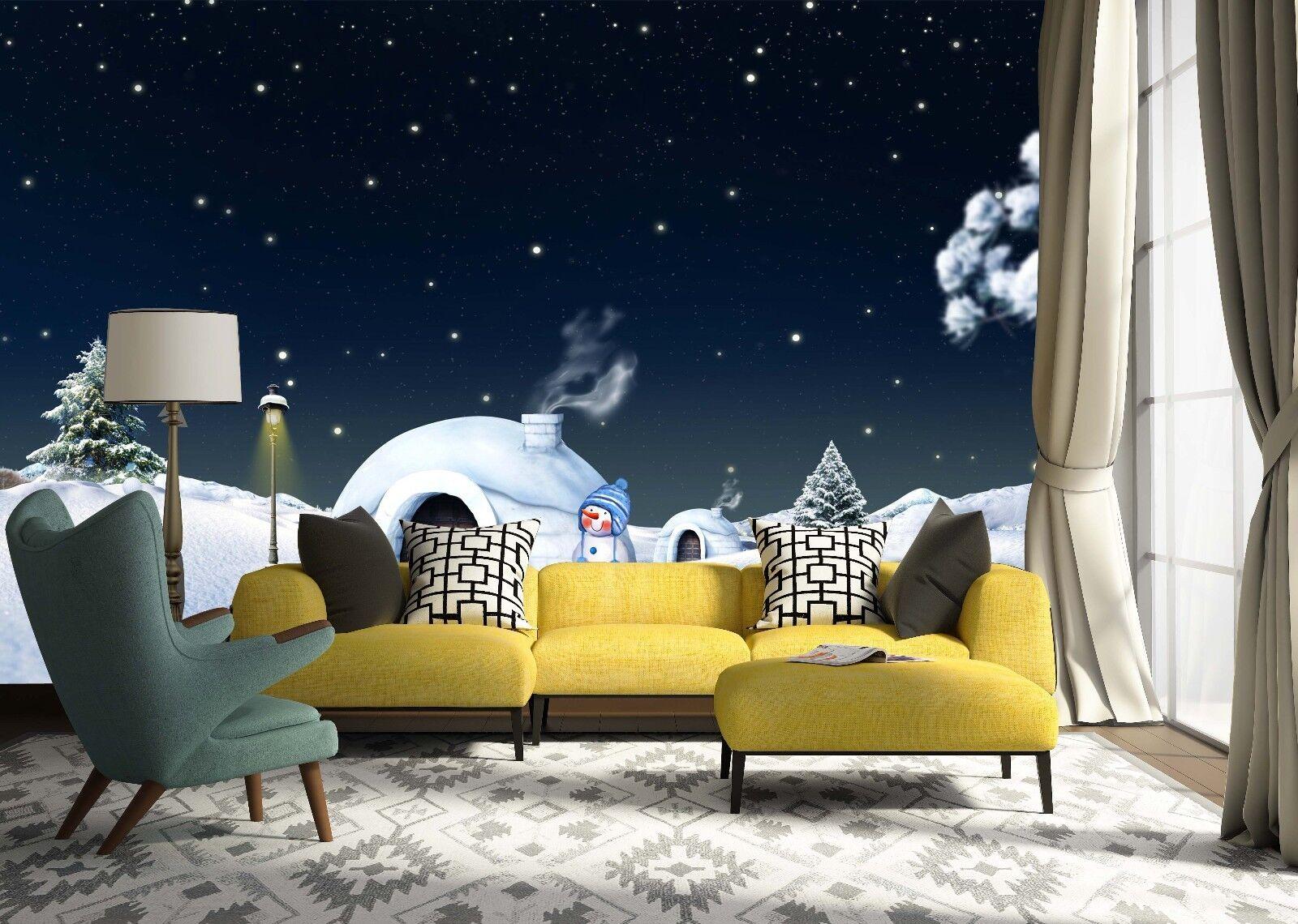 3D Night Sky Snow 56 Wallpaper Murals Wall Print Wallpaper Mural AJ WALLPAPER UK