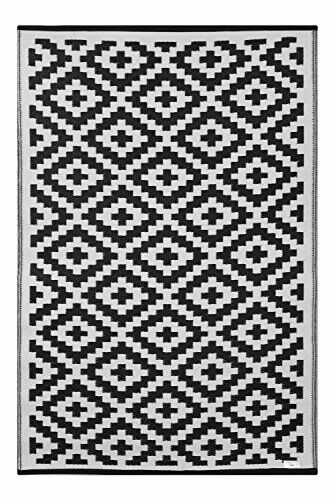 Léger Extérieur Extérieur Extérieur Réversible Plastique Tapis 150 x 240 cm, Noir/Blanc | Au Premier Rang Parmi Les Produits Similaires  5b2c50