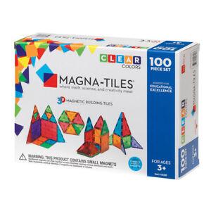 Magna-Tiles-100pc-Clear-Color-3D-Magnetic-Building-Tiles-Set-for-Kids