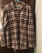 S  Cotton Flannel Shirt Large New FIELD /& STREAM 1871  Charcoal//Black Plaid  L