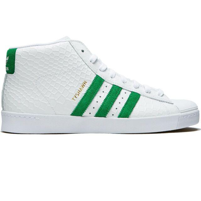 Adidas Tyshawn Pro Model Vulc Adv Mens Skate Casual Shoes White Green Size 11