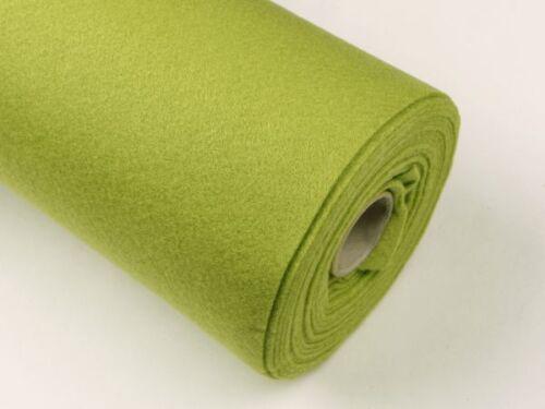 ca.1-1,5mm gelbgrün Filz Rolle 5m
