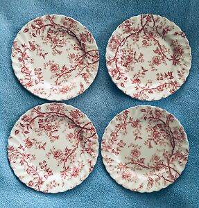 Johnson-Brothers-OLD-BRADBURY-Round-Bread-amp-Butter-Plate-6-1-4-034-Set-of-4