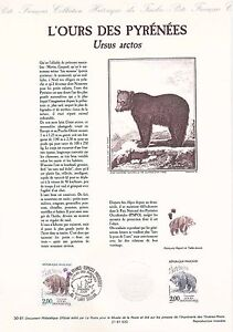 Document-Philatelique-Timbre-1er-Jour-14-09-1991-L-039-Ours-des-Pyrenees