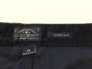 NWT Lucky Brand Boys 12 14 16 20 Cooper Slim Navy Blue Corduroy Pants