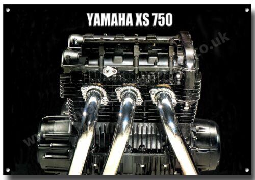 A3 YAMAHA XS 750 ENGINE FINISH METAL SIGN