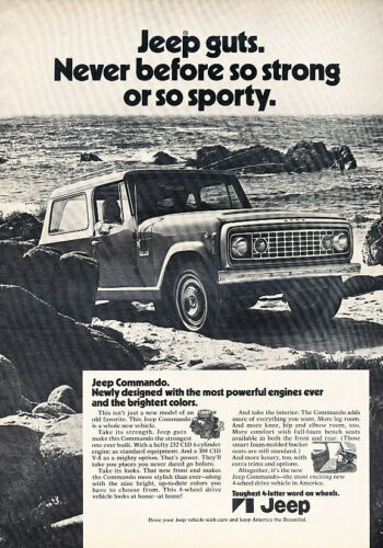 1971 Jeep Commando Newly Classic Vintage Advertisement Ad D49