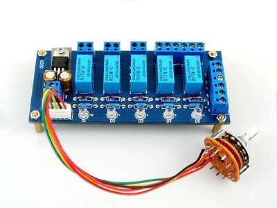 Input / Source Selector DIY Kit (4 to 1 way) 4 Channel Selection (Relay Stereo)