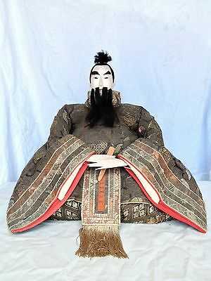 JD106 Japanese Antique Emperor Jinmu Tenno Musha Hina Edo Doll Ningyo Xtra Large