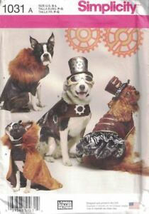 Dog-Clothes-Costumes-in-3-Sizes-S-M-L-Simplicity-1031-Capes-Hats-amp-More-Uncut