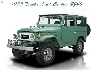 1978 Toyota Land Cruiser FJ-40 New Metal Sign Fully Restored