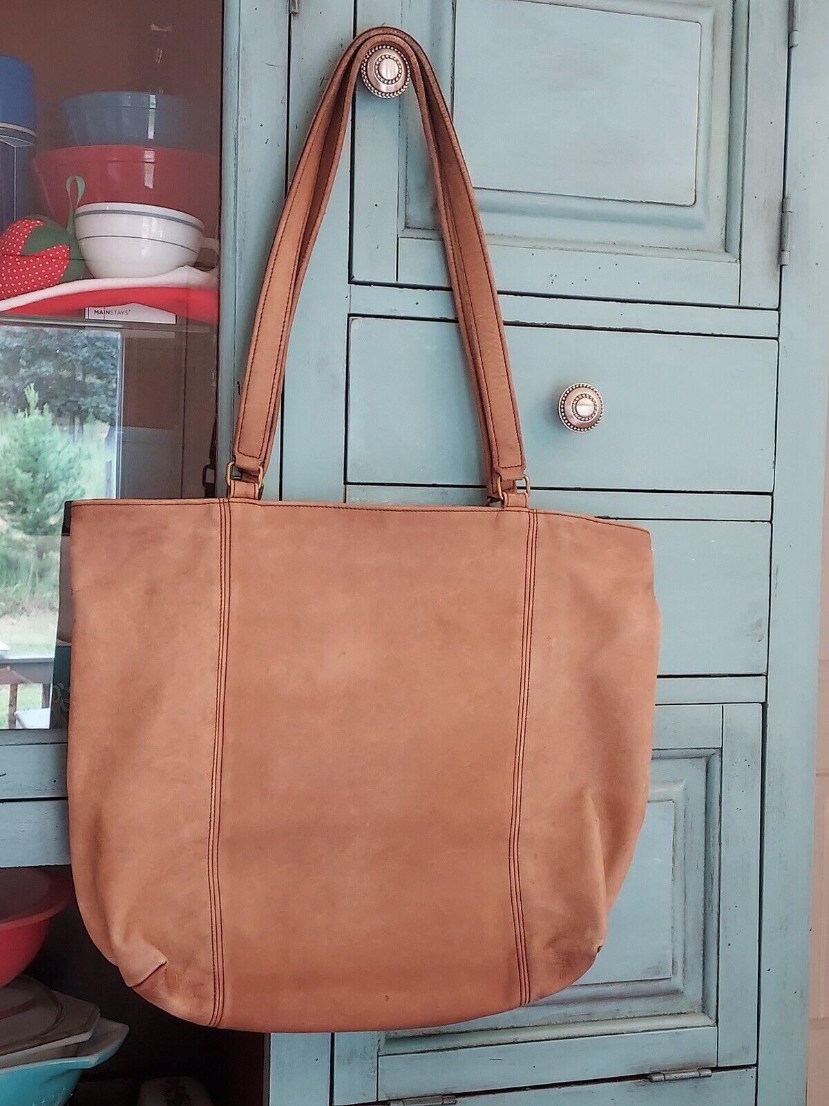 Vintage Leather Coach bag Tan 1970s Bonnie Cashin… - image 1
