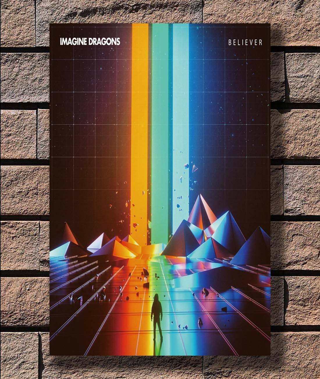 Hot Fabric Poster Imagine Dragons Rock Music Group 36x24 30x20 40x27inc Z153