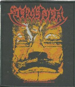 SEPULTURA-aztec-face-1992-WOVEN-SEW-ON-PATCH-official-merch-no-longer-made