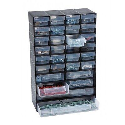 30 Multi Drawer Cabinet Screw Nail Craft Bits Storage Organiser Shed Garage