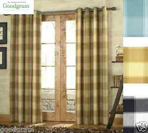 Country Style Shelton Grommet Tailored Plaid Curtain
