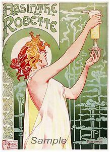 VINTAGE-1896-ABSINTHE-ROBETTE-LIQUEUR-ADVERTISING-A4-POSTER-PRINT