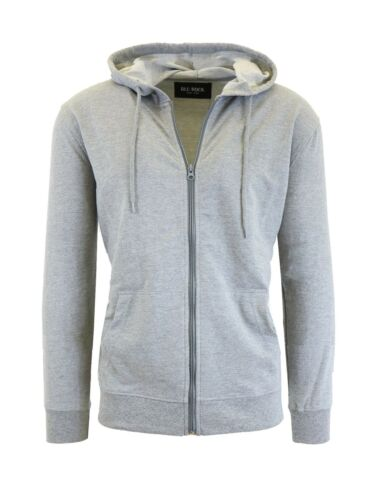 Mens French Terry Full Zip Hoodie Sweatshirt Sweater Sizes S-XXL Slim Fit NWT