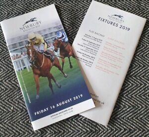 Newbury-Friday-16th-August-2019-Racecard-2-horses-exequo-NEW-amp-UNMARKED