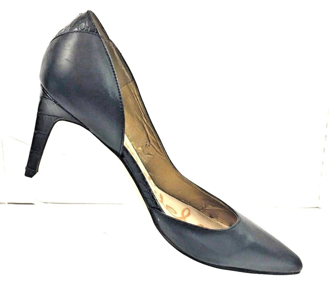 Sam Edelman Women Black Snakeskin 'Onyx' Half d'Orsay Pointy Toe Toe Toe Pump shoes 9.5M e3d20f