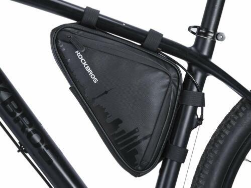 ROCKBROS Fahrrad Rahmentasche Wasserfest Tasche Dreiecktasche ca.1,5L Schwarz