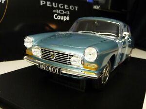 1-18-NOREV-PEUGEOT-404-Coupe-Blu-Blue-metallizzato-NUOVO-NEW