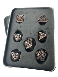 Metal-Dice-Sets-for-DnD-Colors-Bronze-and-Dark-Rainbow