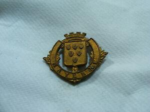 Ancien Blason De Ville Armoiries Mayenne Écusson Plaque En Laiton 3,2 X 2,7cm Eux6utqz-10103200-456676855
