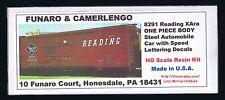 Funaro F&C 8291 READING  Automobile RDG SPEED Letter Steel XAra Auto Boxcar 1-PC