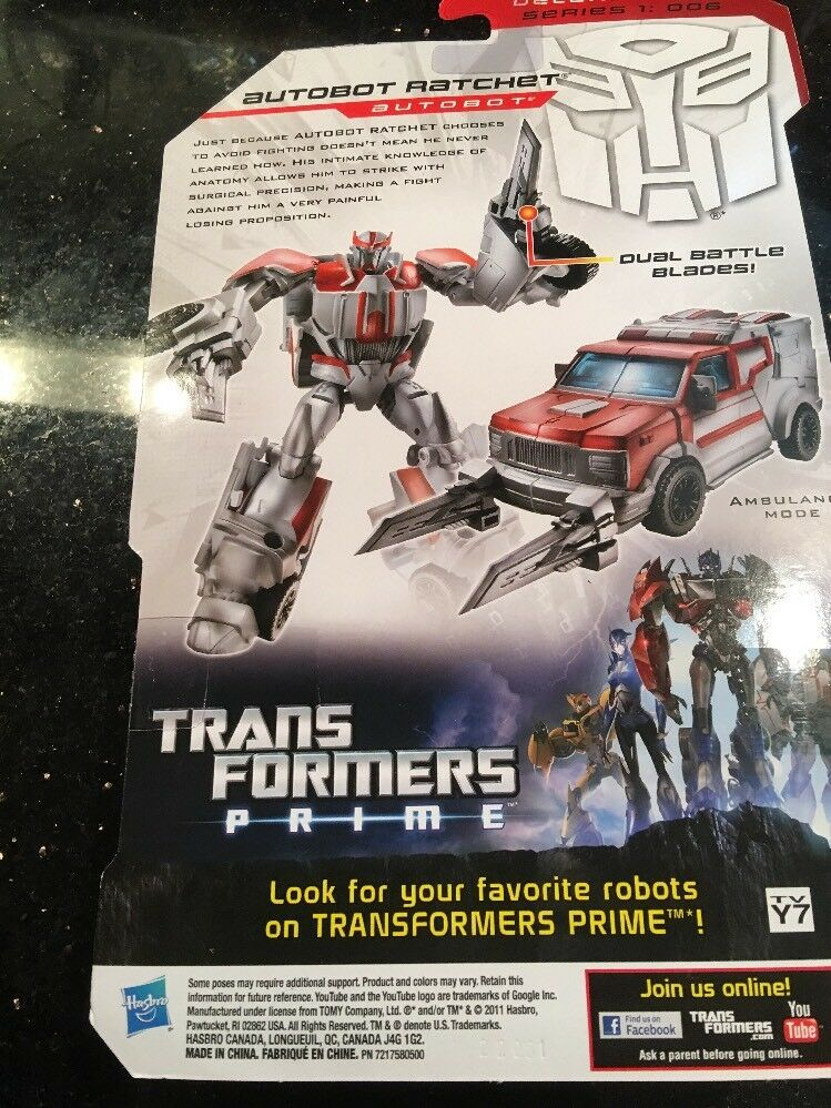 TRANSFORMERS PRIME ROBOTS IN DISGUISE AUTOBOT RATCHET