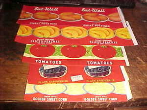 Wholesale Lot of 100 Old 1950/'s TOMATOES ANGEL Brand CAN LABELS