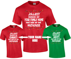 Family Christmas Shirts.Details About Christmas Family Shirts Personalized Family Name Christmas T Shirts For Holidays