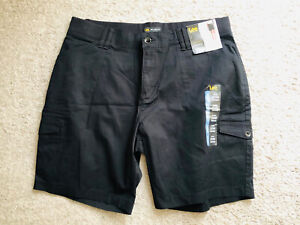 Womens Lee Relaxed Fit Bermuda Shorts Stretch Sz 20W Black