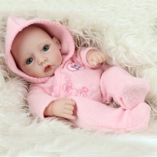"10/"" Handmade Real Looking Baby Girl Soft Vinyl Realistic Life Like Reborn Dolls"