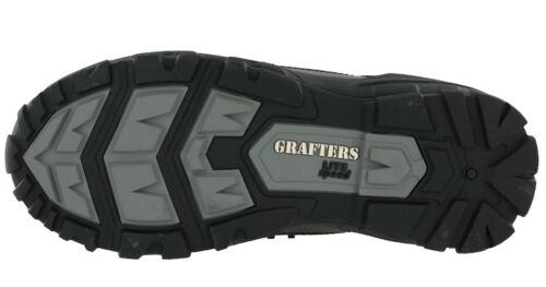 pelle combattimento fibbia leggera da Stivali Grafters con in uomo Stivaletti pelle non metallica da in C6A5HqAxw