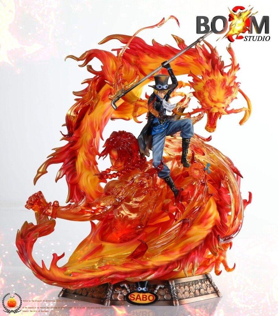 One Piece  -  Flame  Dragon Sabo with Portgas D. Ace Resina 60 CM  alta quaità