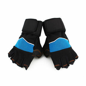 Sports-Weight-Lifting-Gym-Fitness-Protection-Gloves-W-Adjustable-Wrist-Strap-WD