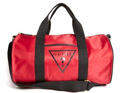 New GUESS Women's Logo Red Gym Weekend Travel Lightweight