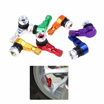 2X Tyre Valve Extension Adapter 90 Degree For Motorcycle Car Tire