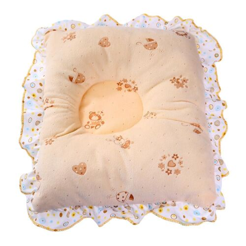 Newborn Infant Lovely Lace Pillow Anti Flat Head Velvet Neck Support Cush Mxt