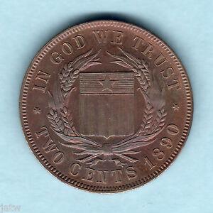 Liberia-1890-2-Cent-Pattern-Prooflike-Near-FDC-KM-Pn52