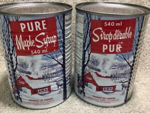 Decacer-Pure-Maple-Syrup-2-Cans-Canada-No-1-Medium-540ml-Made-in-Canada