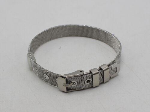 Treillis En Acier Inoxydable Réglable Bracelet Slider Charm Bracelet 8 mm avec Boucle