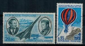 timbres-France-P-A-n-44-45-obliteres-annees-1970-et-1971