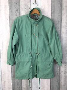Vintage-C-amp-A-Mint-Green-Encerado-Chaqueta-Impermeable-Size-Uk-10